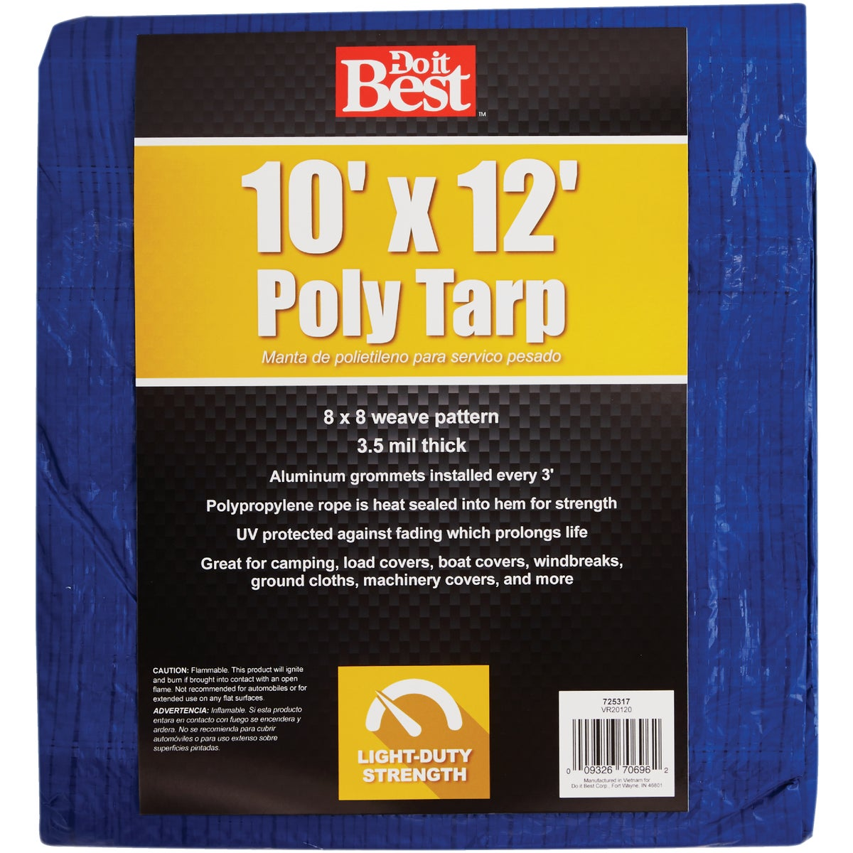 10X12 BLUE AP TARP - 725317 by Do it Best