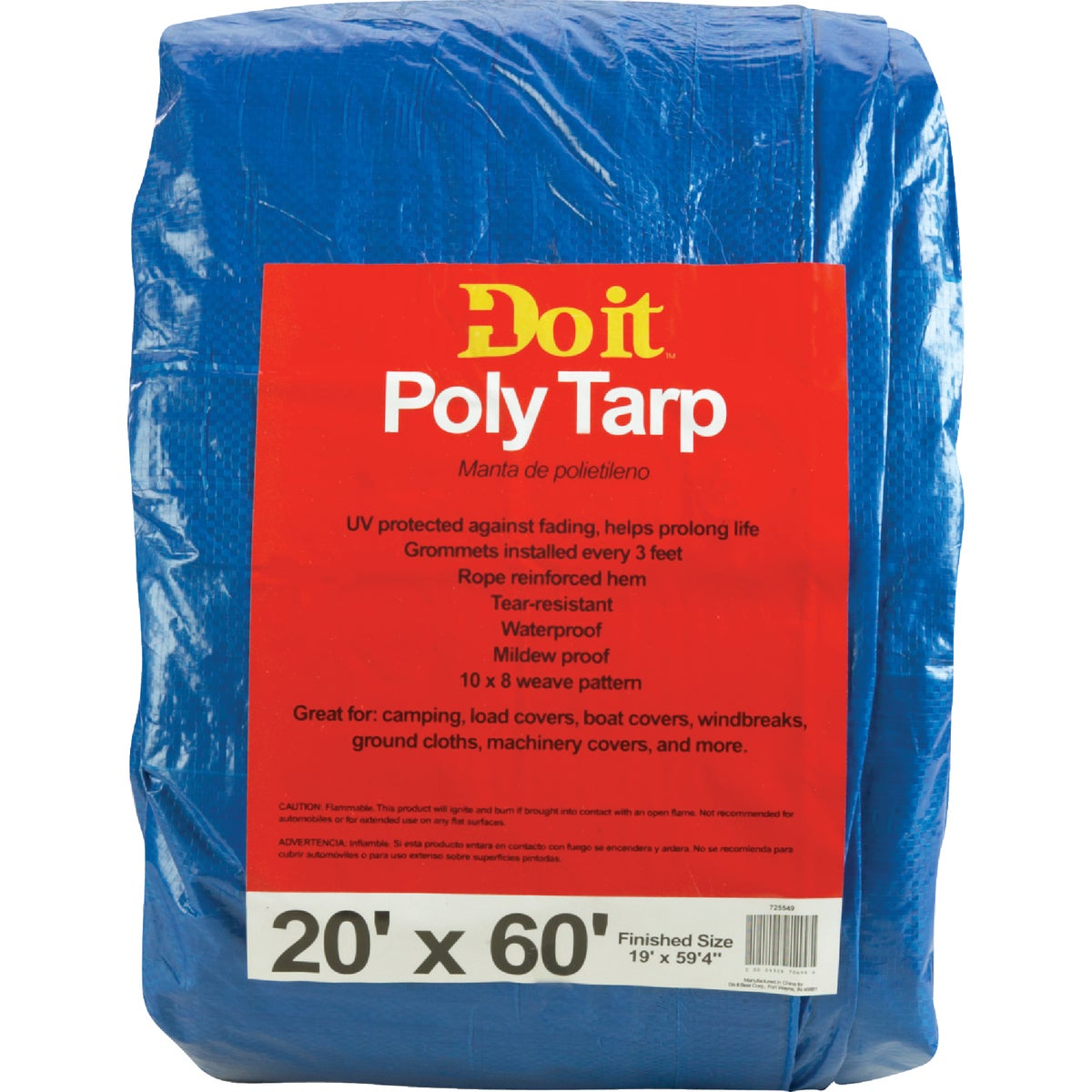 20X60 BLUE MED DUTY TARP