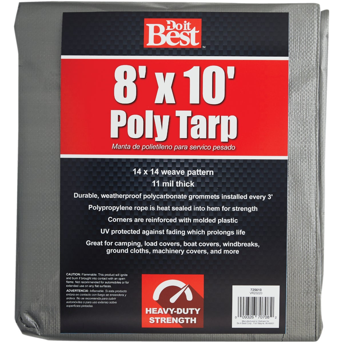 8X10 SLVR H/DUTY TARP - 725610 by Do it Best