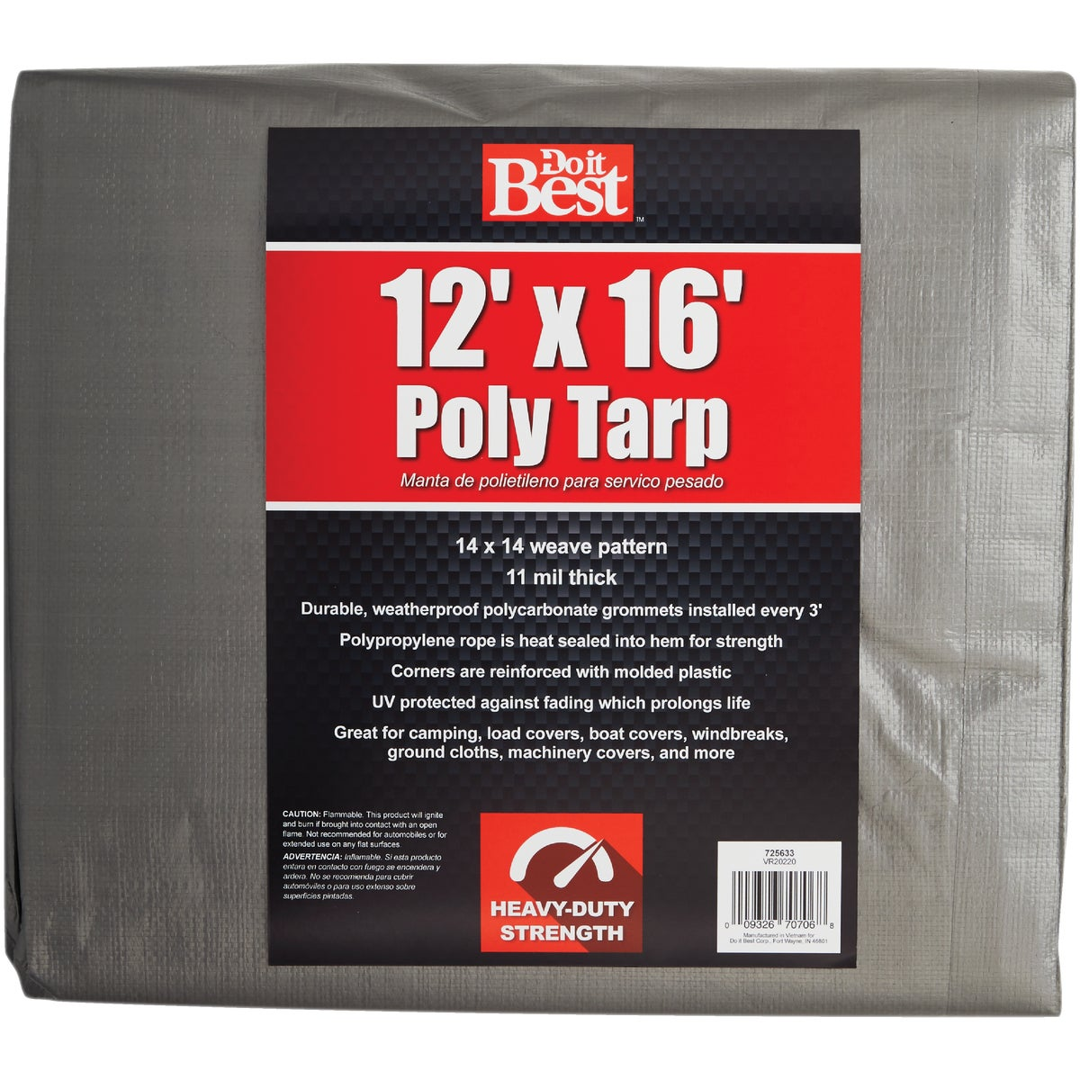12X16 SLVR H/DUTY TARP - 725633 by Do it Best
