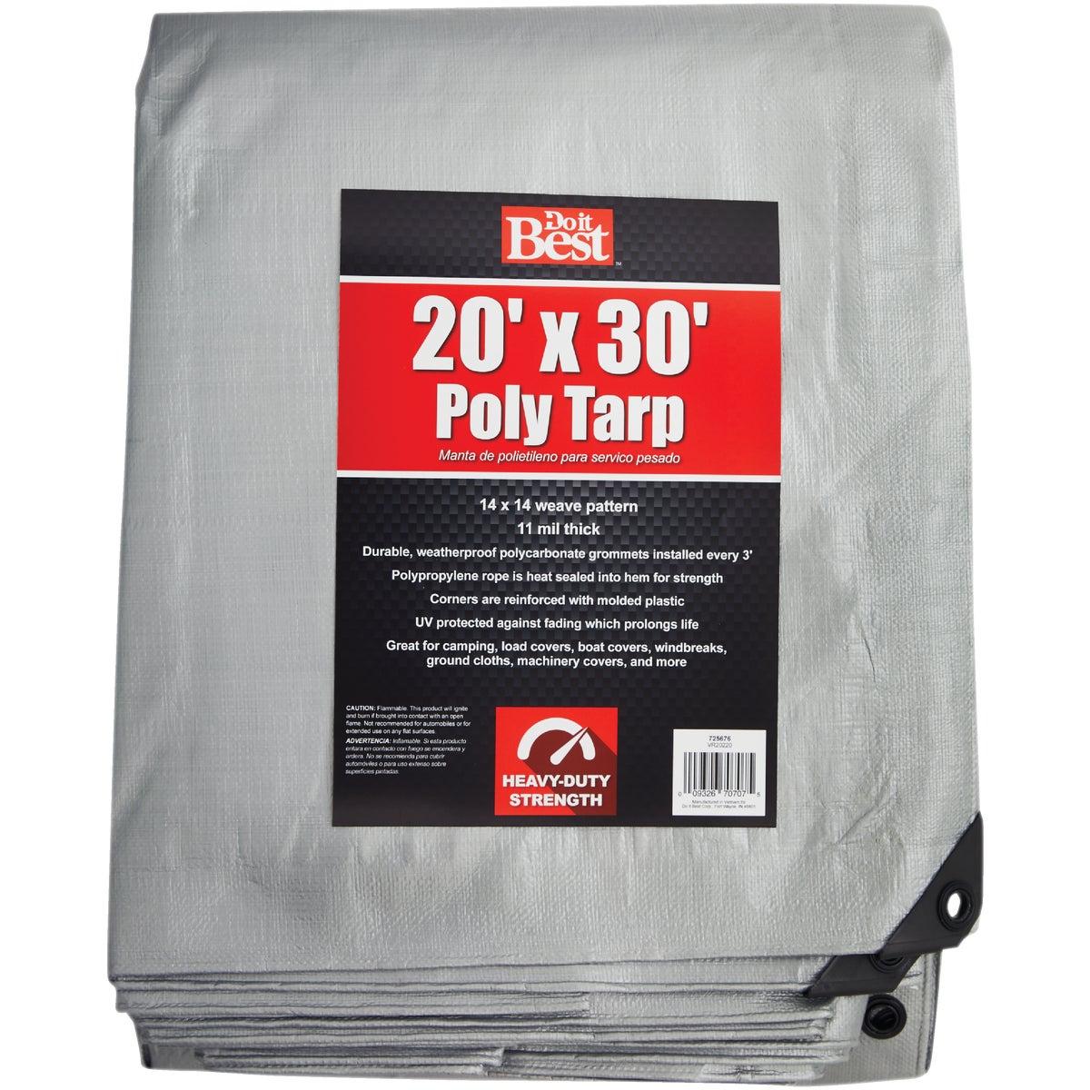 20X30 SLVR H/DUTY TARP