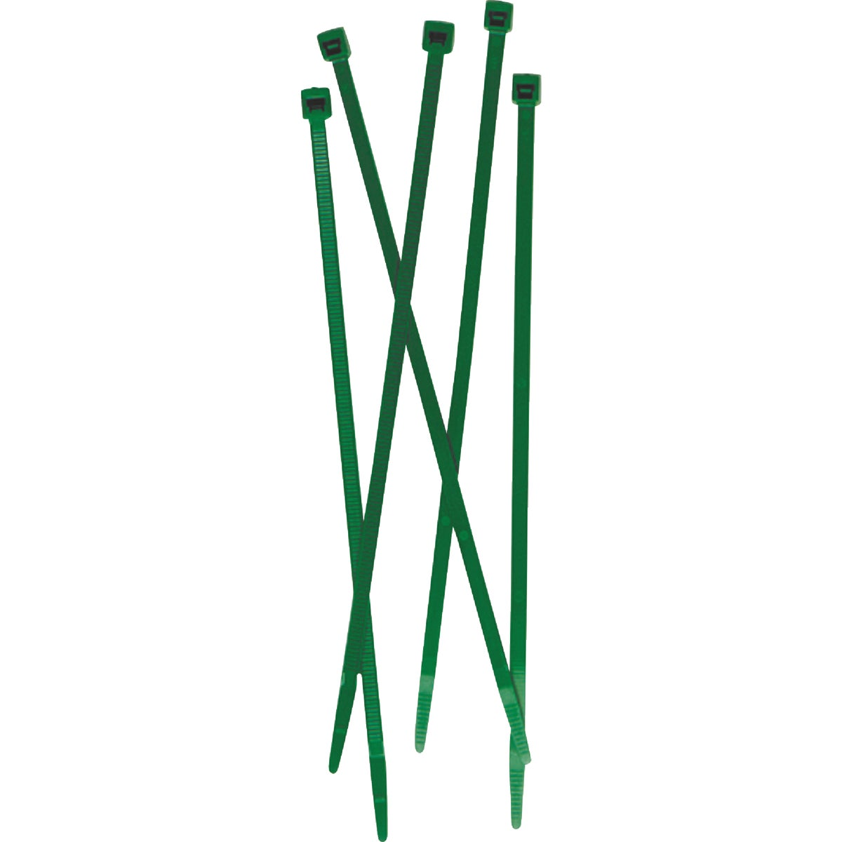"""50PC 7"""" GREEN FENCE TIES"""