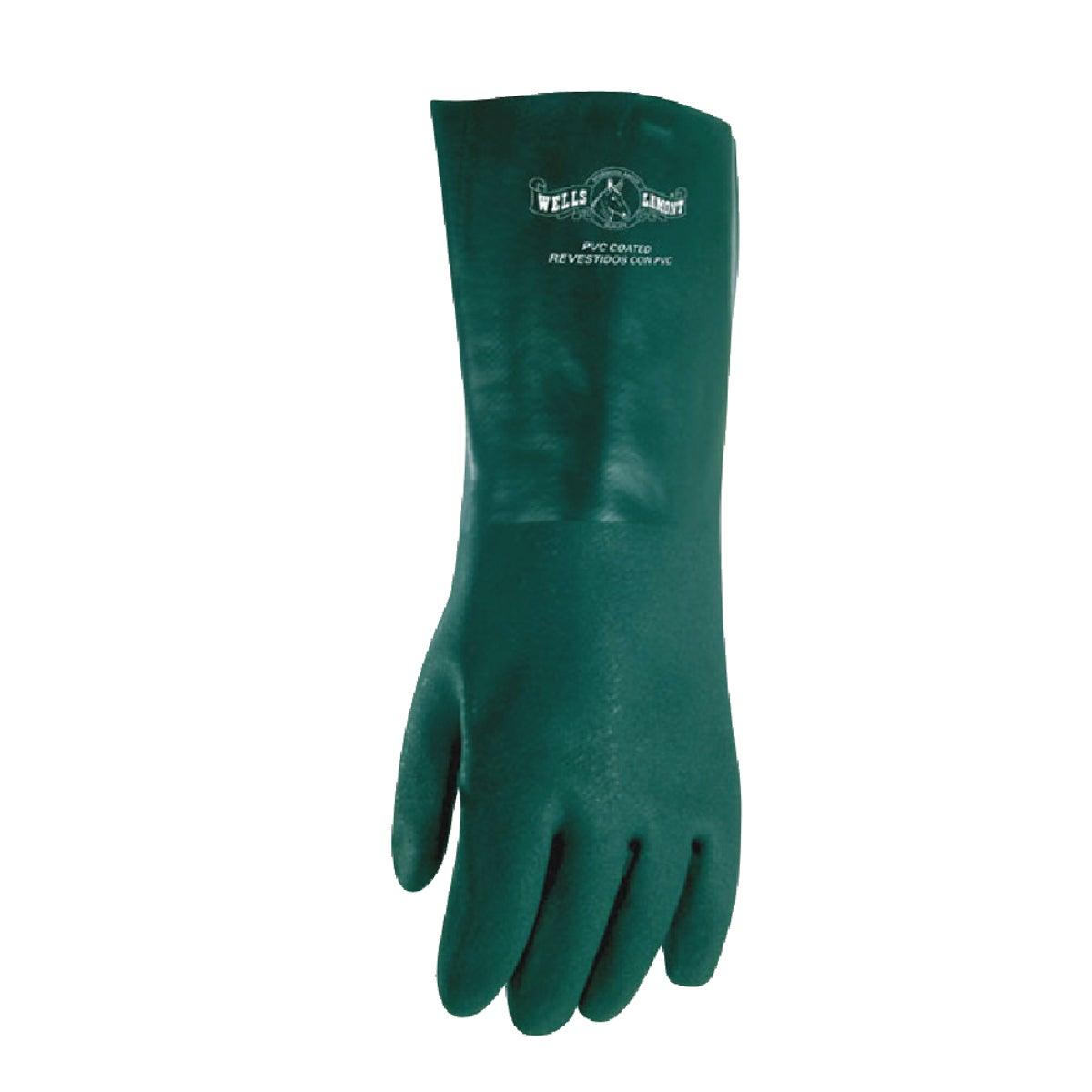 GREEN PVC COATED GLOVE