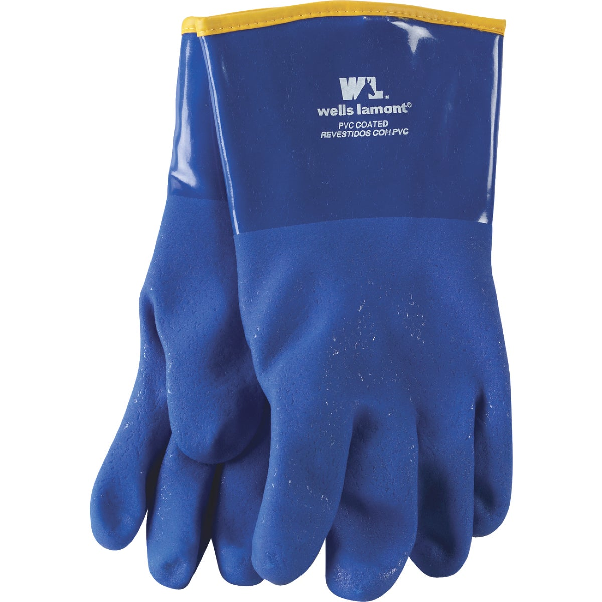 """12"""" BLUE PVC LINED GLOVE - 194 by Wells Lamont"""