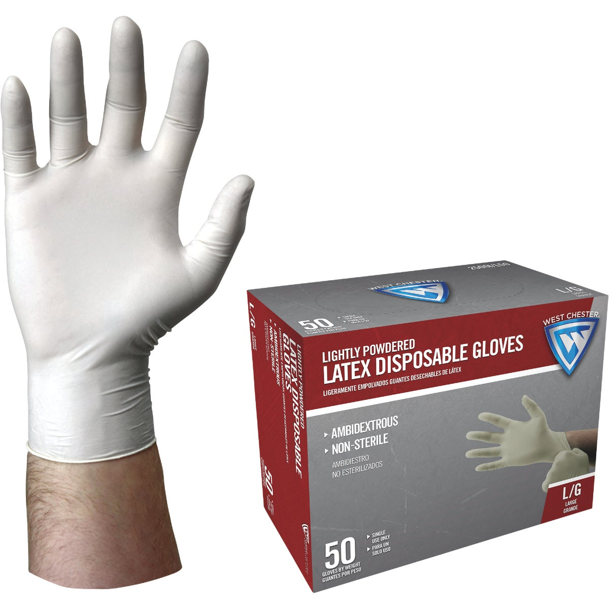 50PK LATEX DISP GLOVE