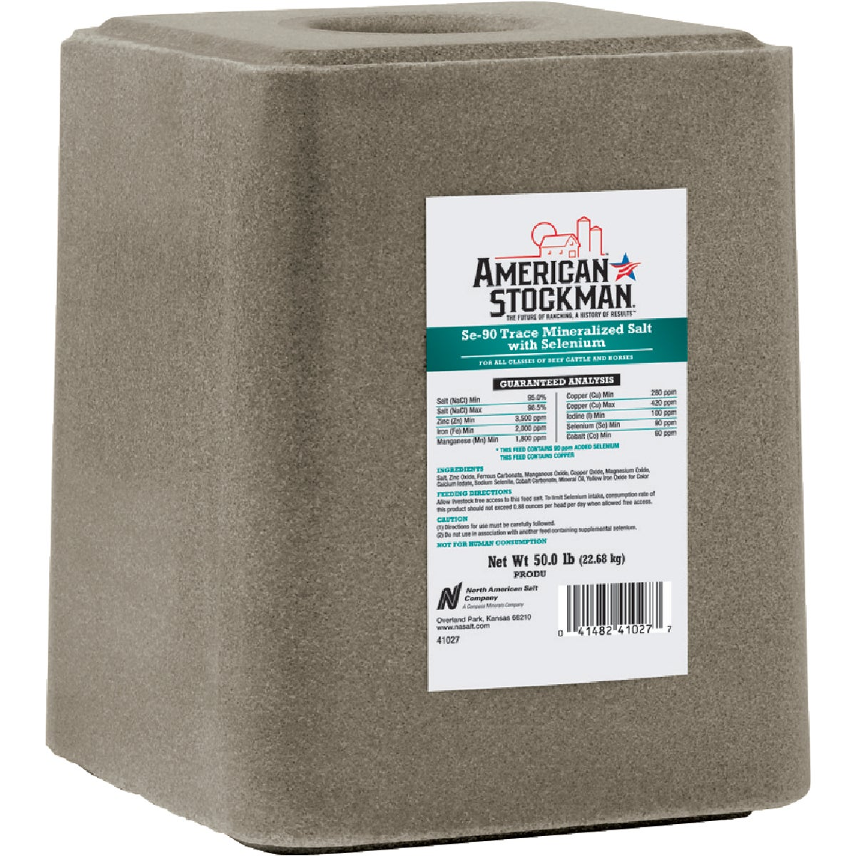 50LB TM W/SEL BLOCK SALT - 41027 by North American Salt