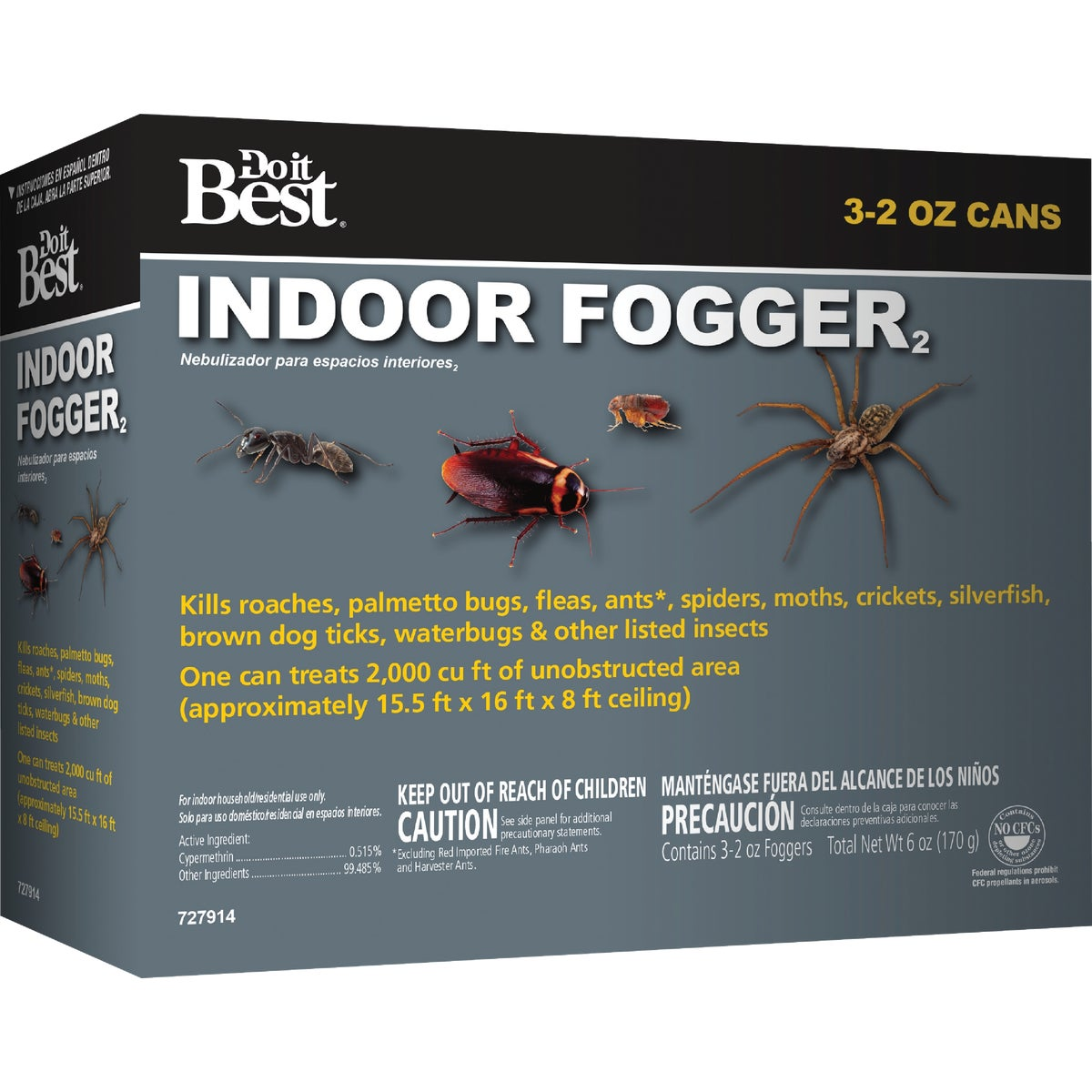 3PK INDOOR FOGGER - 727914 by Maid Brands Inc