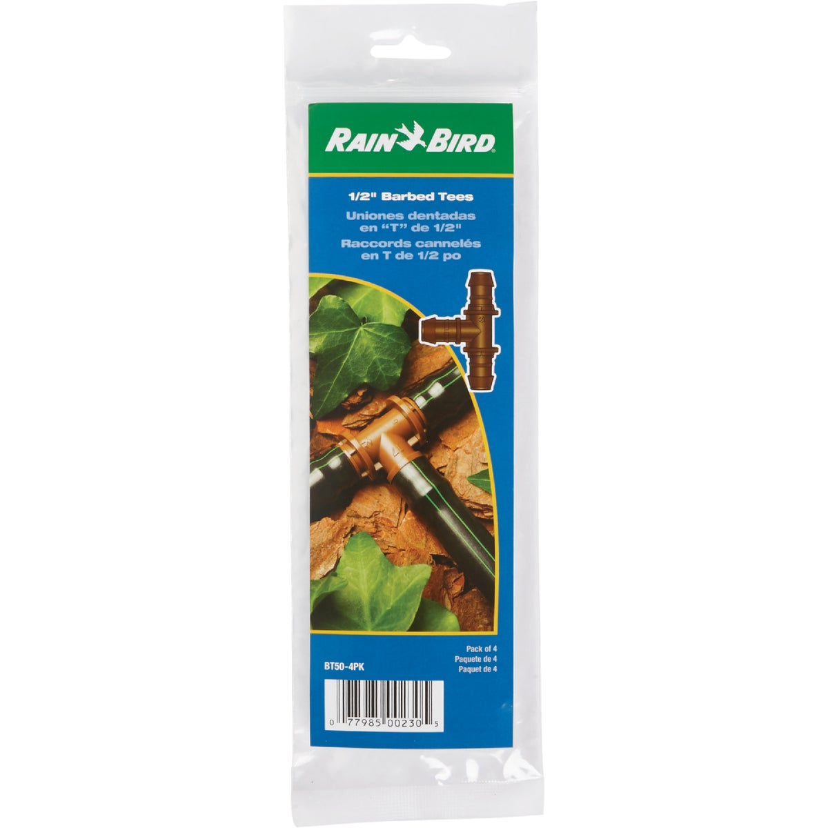 "4-PK 1/2"" BARBED TEE"