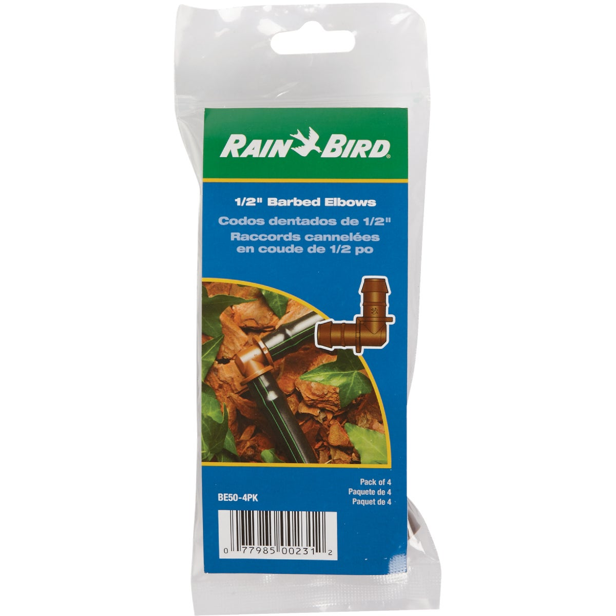 "4-PK 1/2"" BARBED ELBOW - BE50-4PK by Rain Bird Corp Consu"