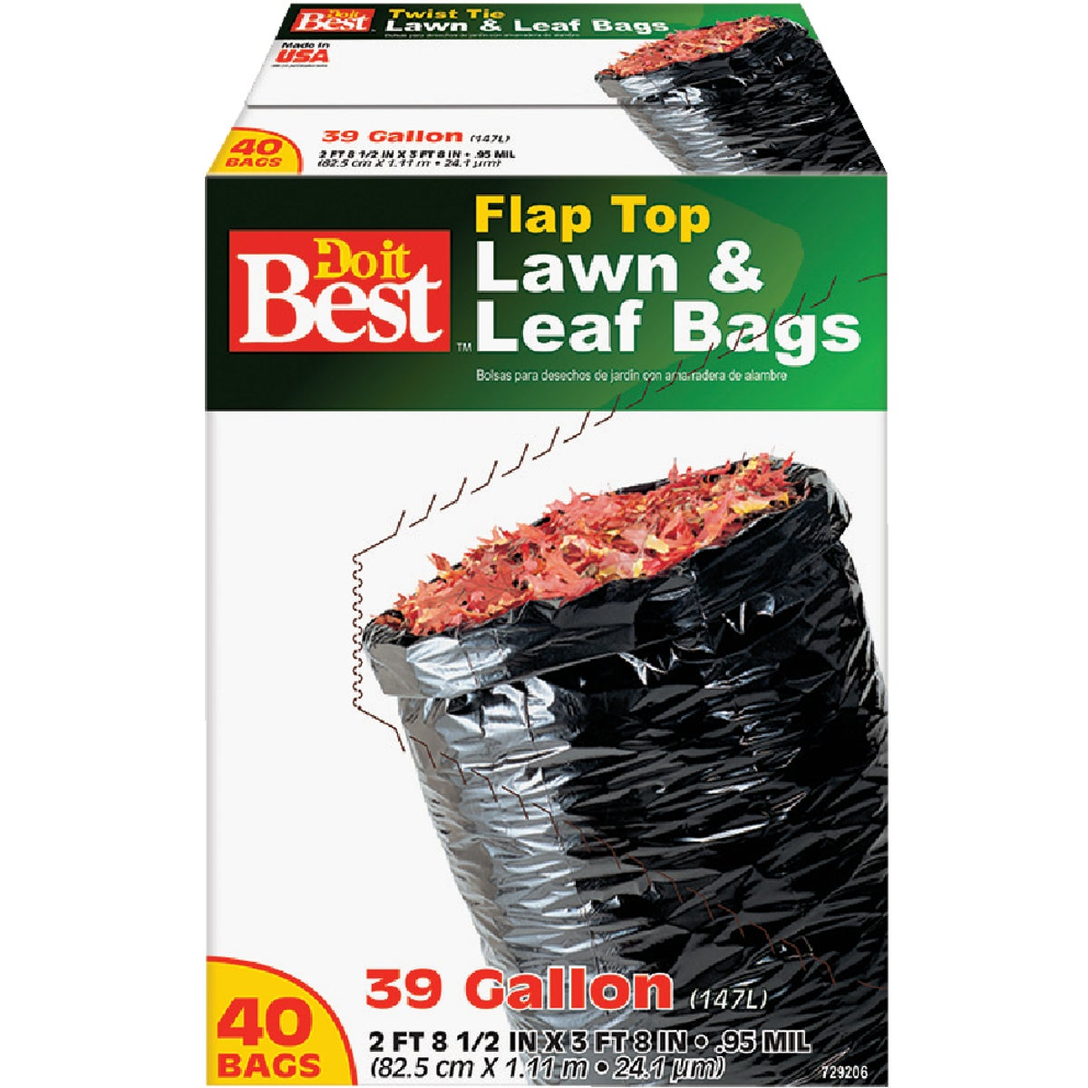 40CT 39GAL LAWN&LEAF BAG - 729206 by Presto Products