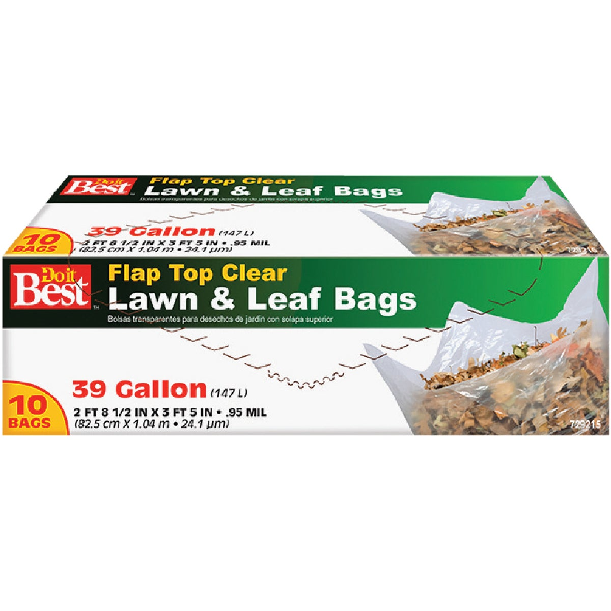 39GAL CLR LAWN& LEAF BAG - 729215 by Presto Products