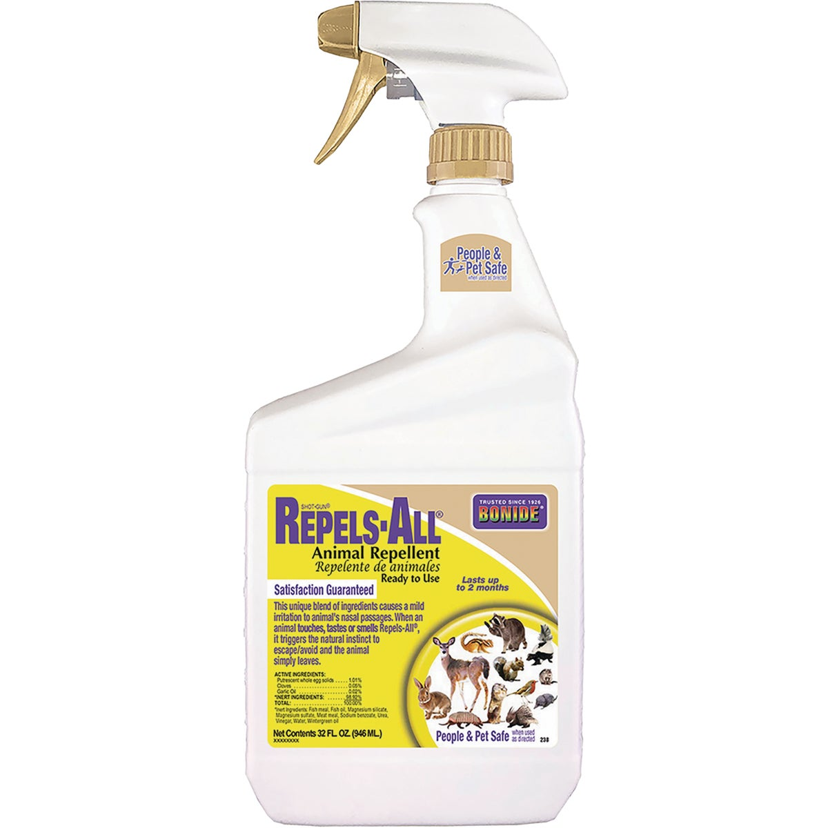 Bonide 238 1-Quart Shot-Gun Repels-All Animal Repellent Ready To Use