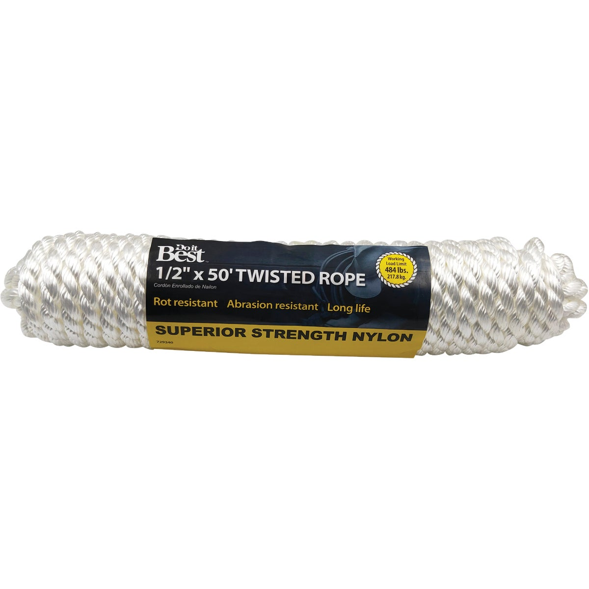 "1/2""X50' NYL TWIST ROPE - 729340 by Do it Best"