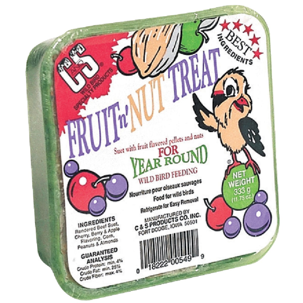 FRUIT AND NUT SUET - 12549 by C & S Products Inc