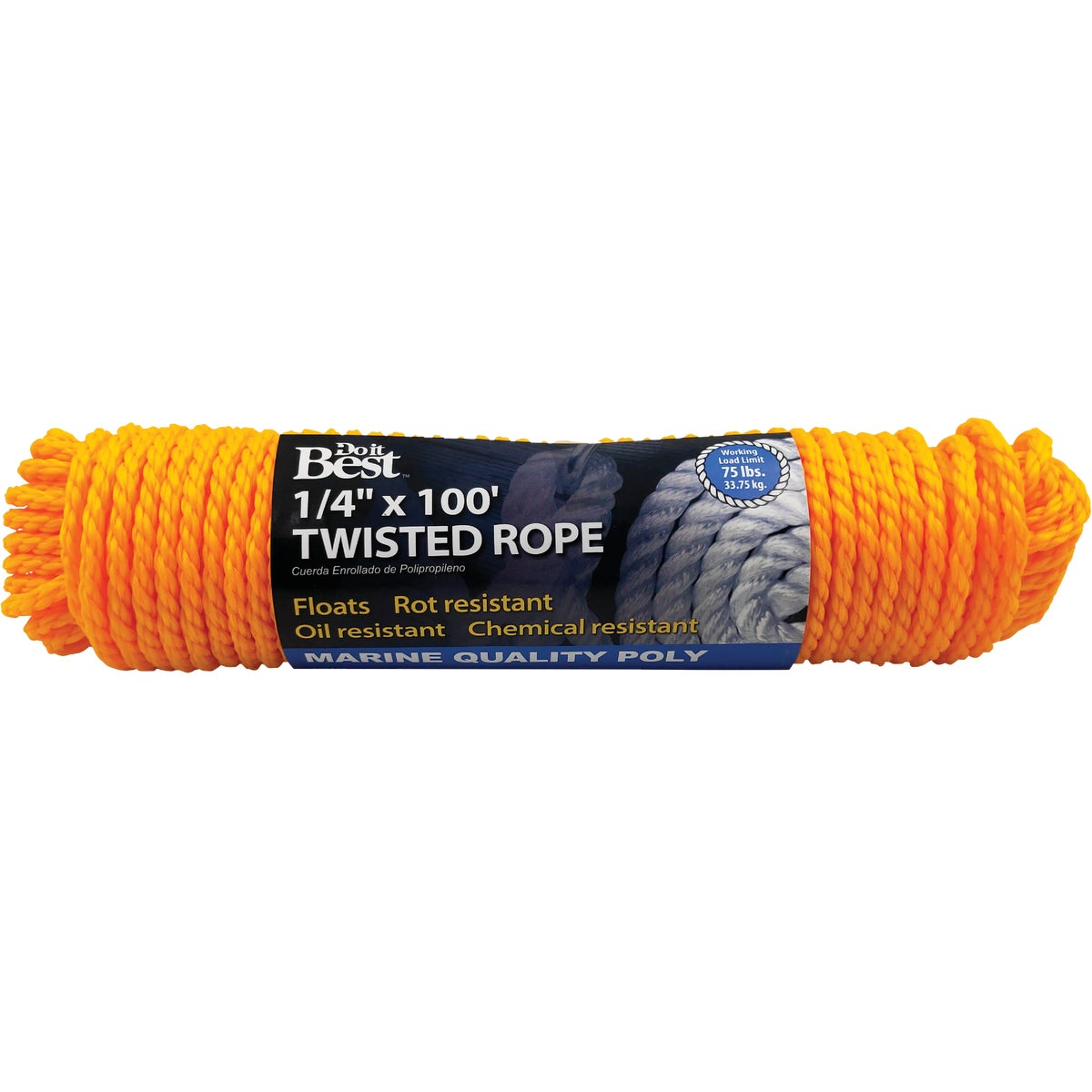 "1/4""X100'POLY TWIST ROPE"