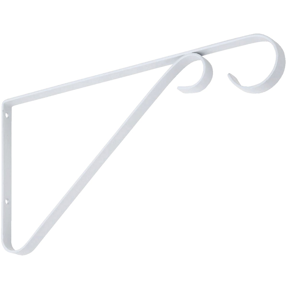 "9"" WHITE PLANT BRACKET - N274571 by National Mfg Co"