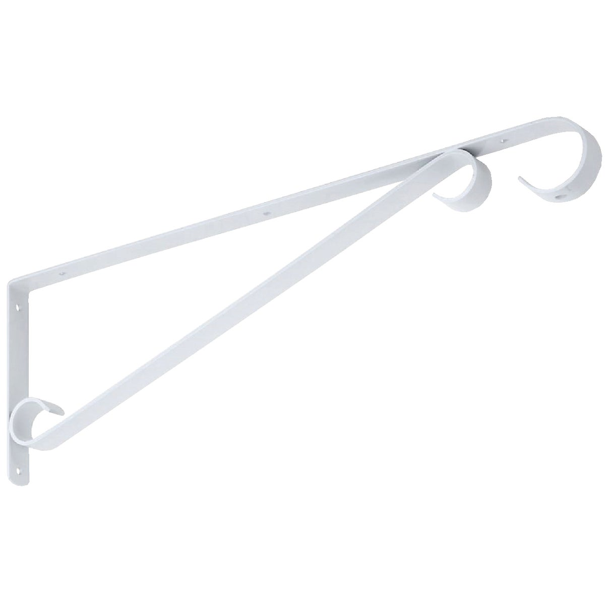 "15"" WHITE PLANT BRACKET - N274639 by National Mfg Co"