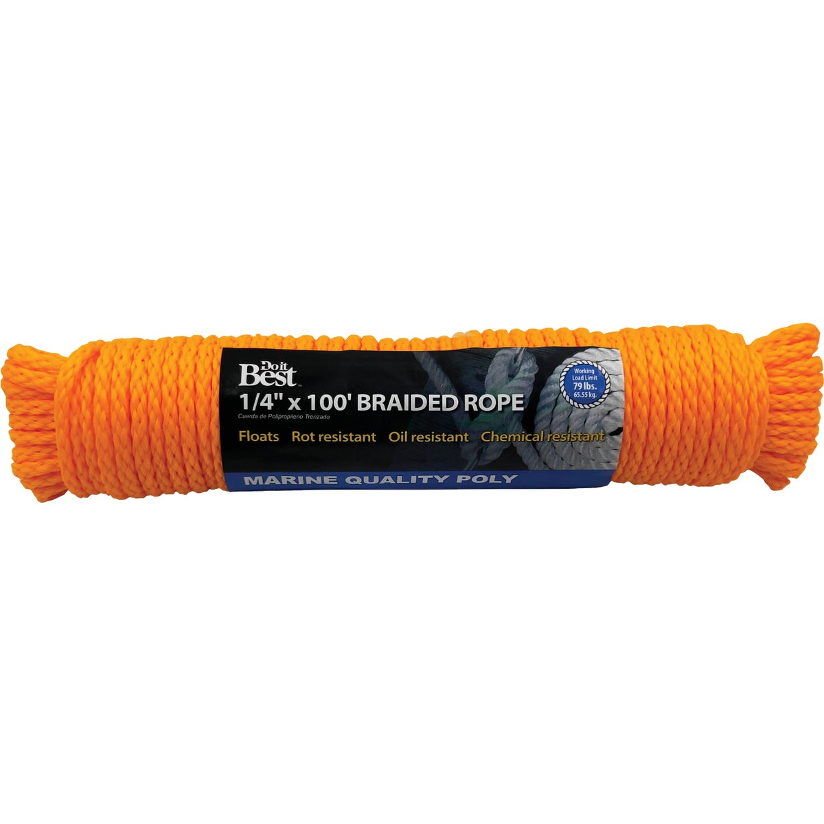"1/4""X100'POLY BRAID ROPE - 729590 by Do it Best"