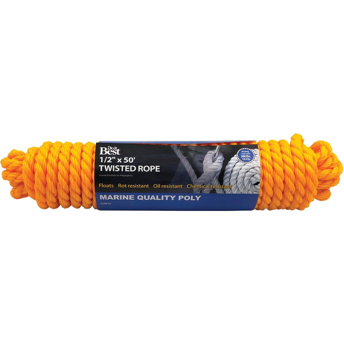 "1/2""X50' POLY TWIST ROPE - 729616 by Do it Best"