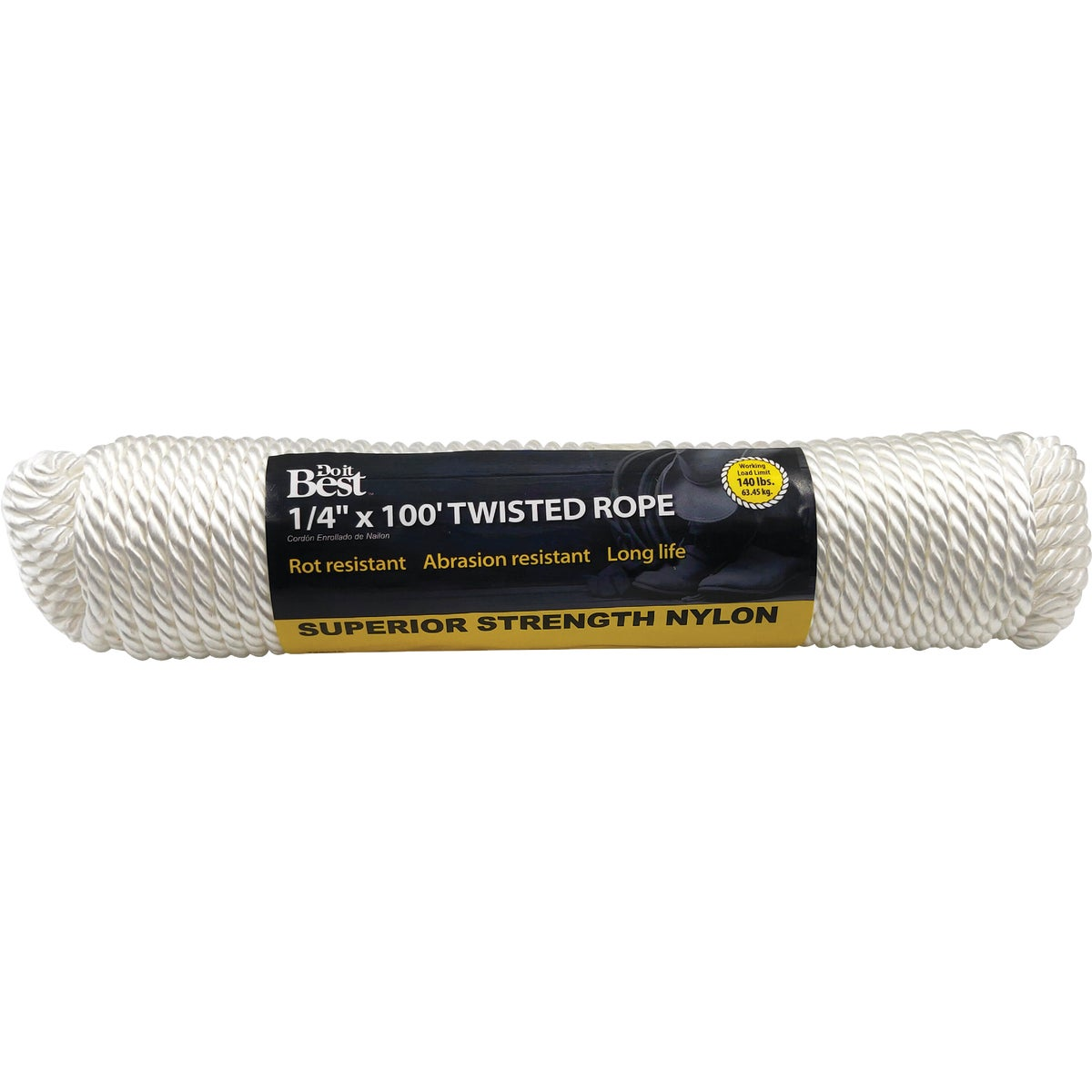 "1/4""X100' NYL TWIST ROPE - 729625 by Do it Best"