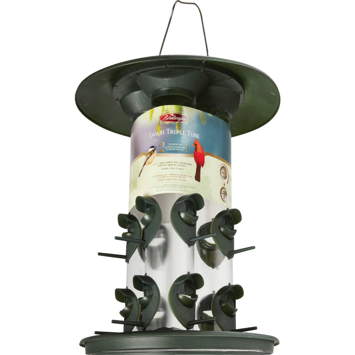 TRIPLE TUBE BIRD FEEDER - 369 by Woodstream Corp