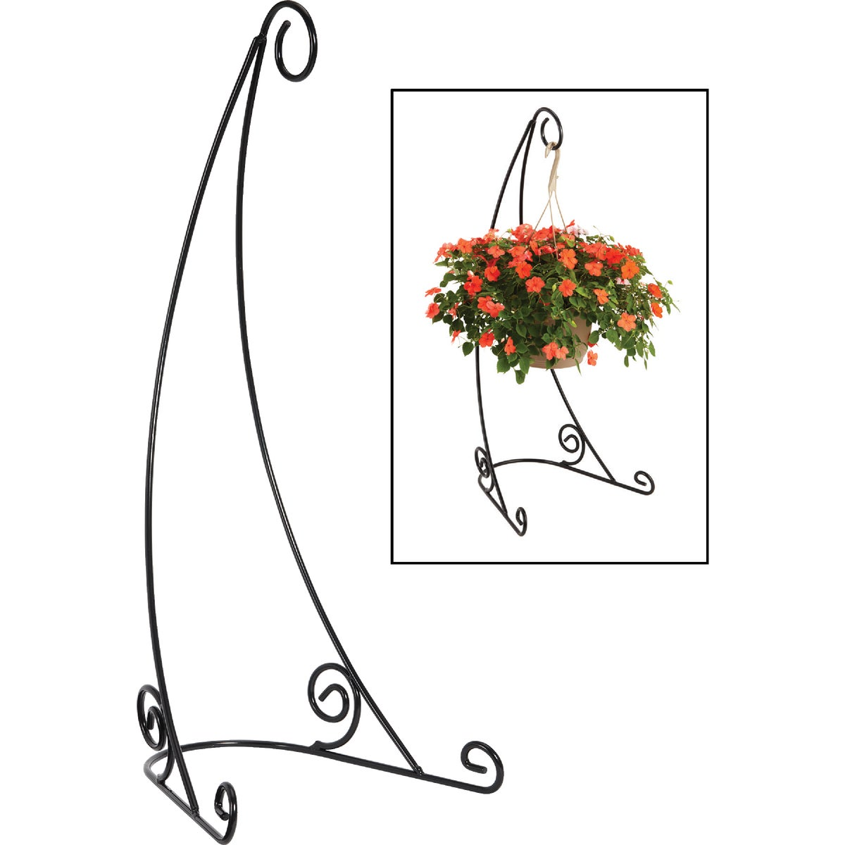 "40""BLK PLANT HANGR STAND - VSB2 by Plastec Products"