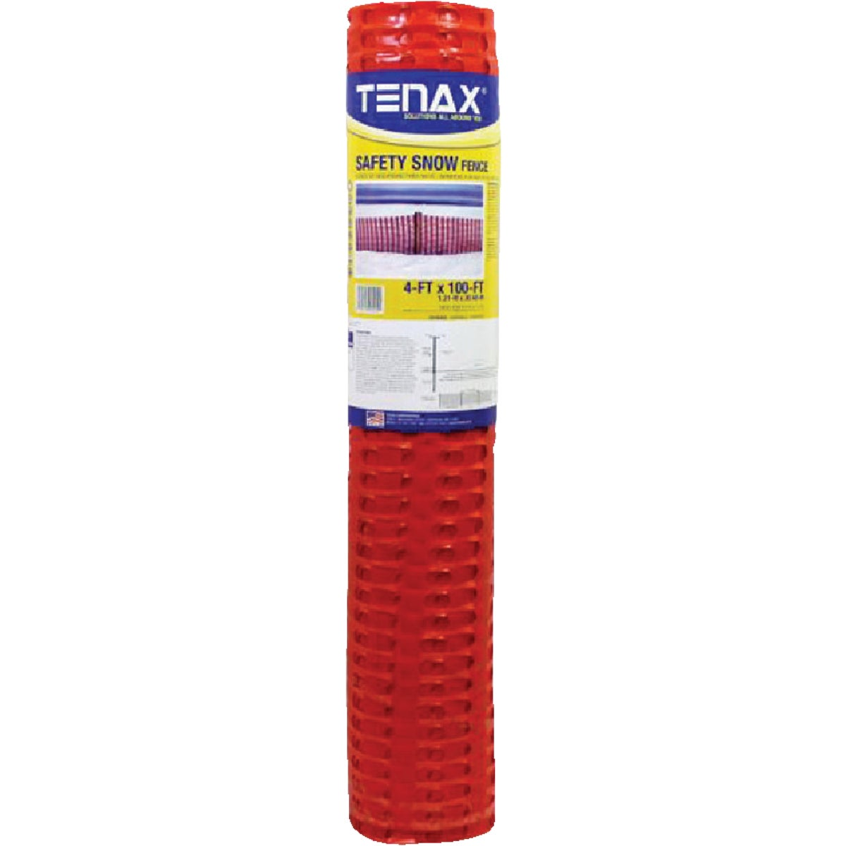 4X100 ORNG SAFTSNO FENCE - 001041 by Tenax Corporation