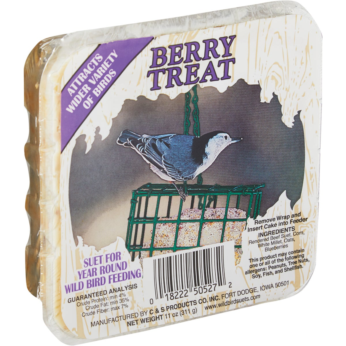 11OZ BERRY TREAT SUET - CS1250527 by C & S Products Inc