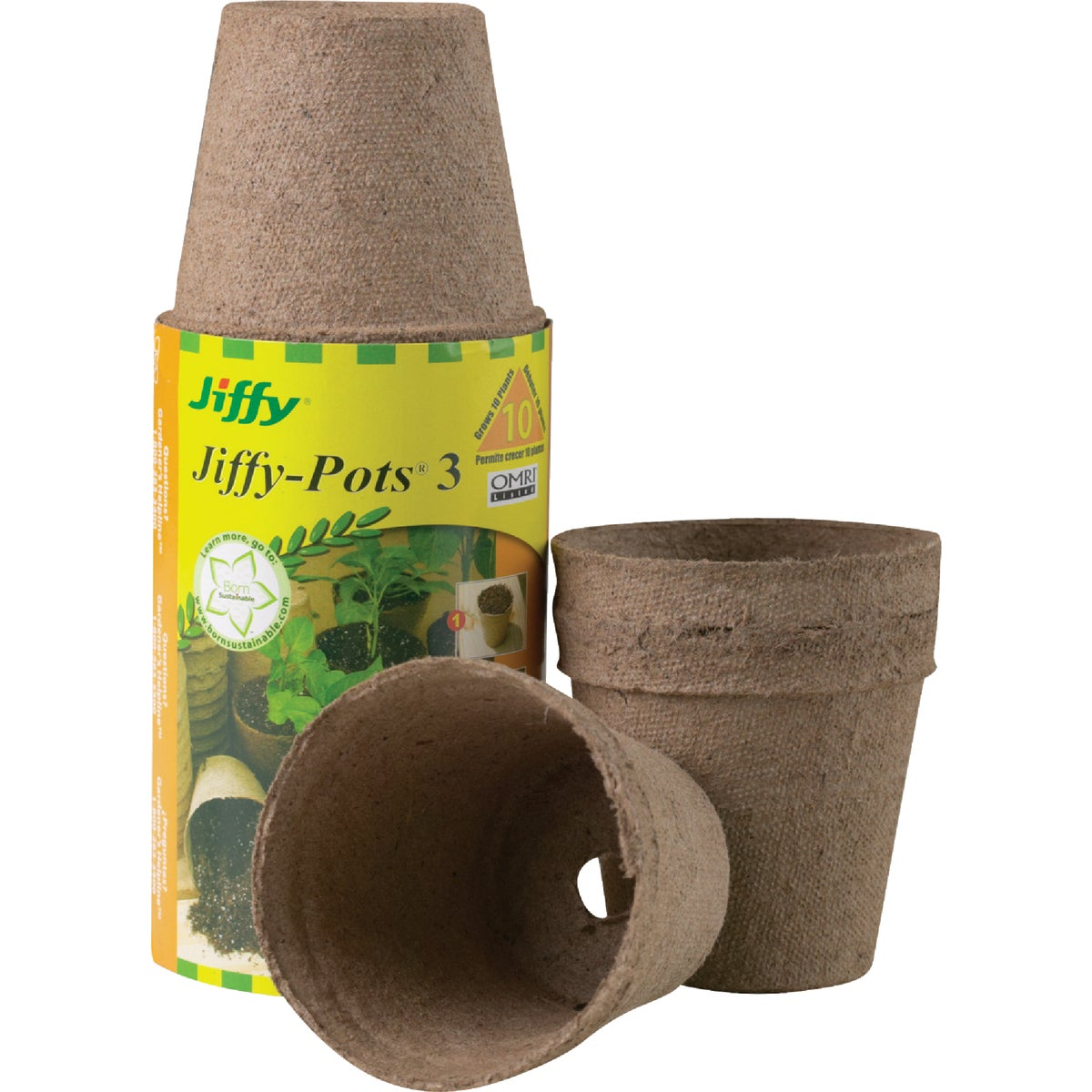 "10PK 3"" ROUND PEAT POTS - JP310 by Plantation Products"