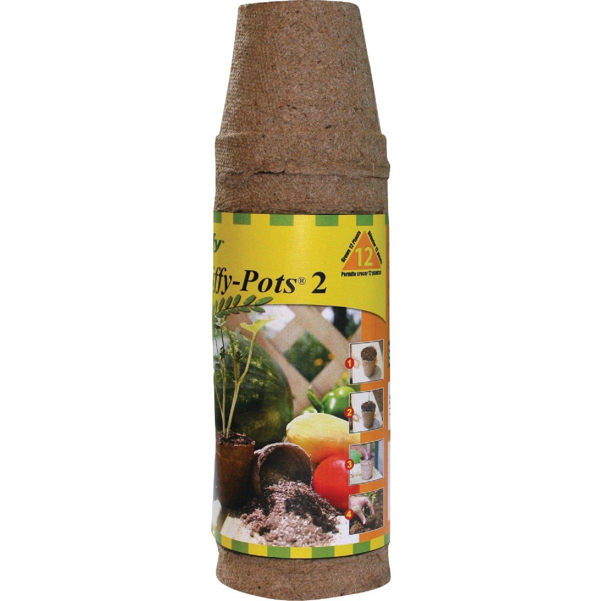 12PK 2.25 ROUND PEAT POT - JP212 by Plantation Products
