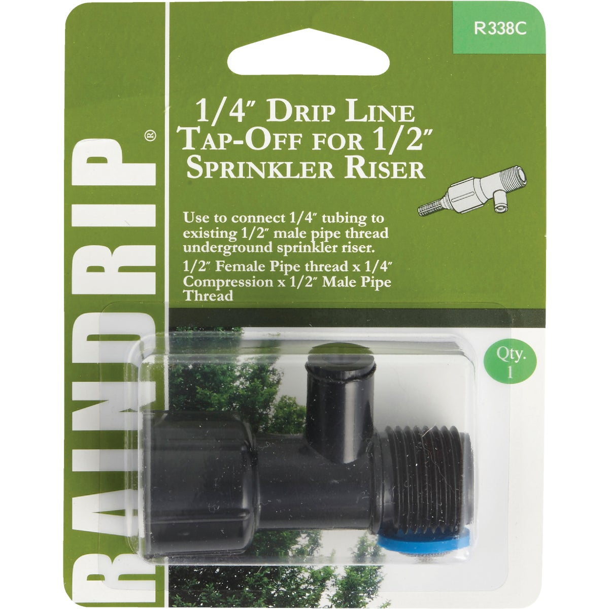 "1/4"" DRIP LINE TAP OFF - R338CT by Raindrip Inc"