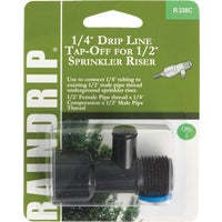 Raindrip Drip Line Tap-Off Sprinkler-To-Drip Adapter, R338CT