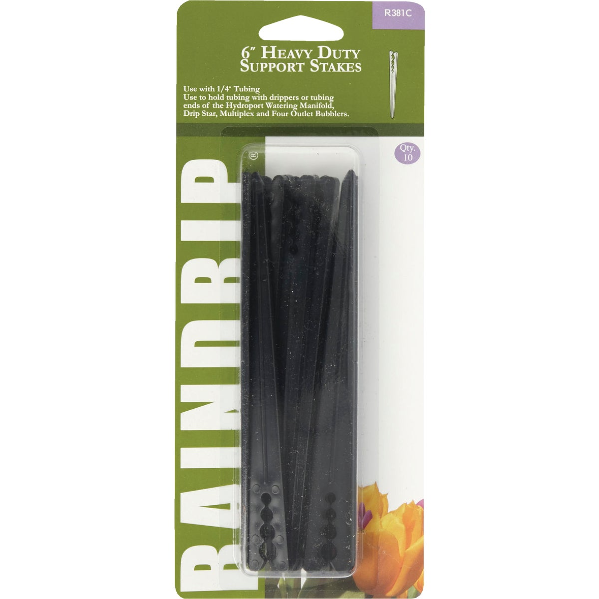 "6"" H DUTY SUPPORT STAKES - R381CT by Raindrip Inc"