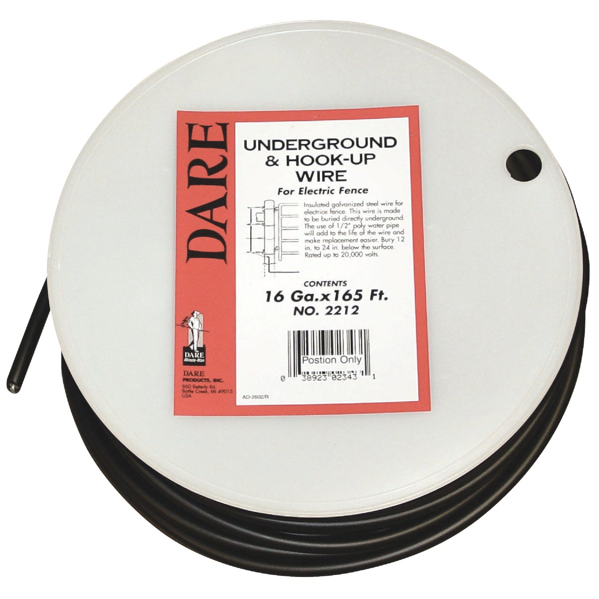 14GX165' UNDRGROUND WIRE - 2212 by Dare Products Inc