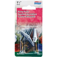 National Mfg. ANTQ BRS SWAG HOOK 274-811