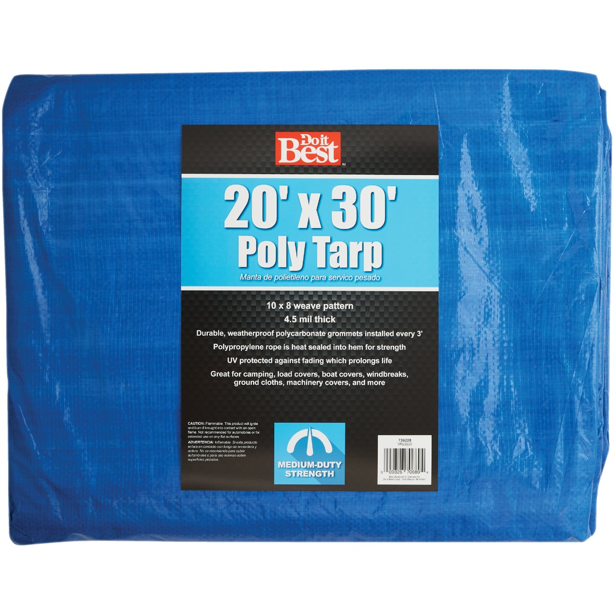 20X30 BLUE MED DUTY TARP - 736228 by Do it Best