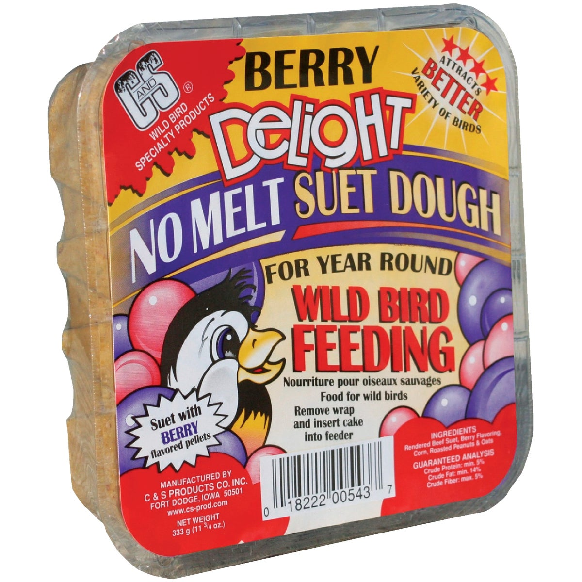 BERRY DELIGHT DOUGH SUET - 12543 by C & S Products Inc
