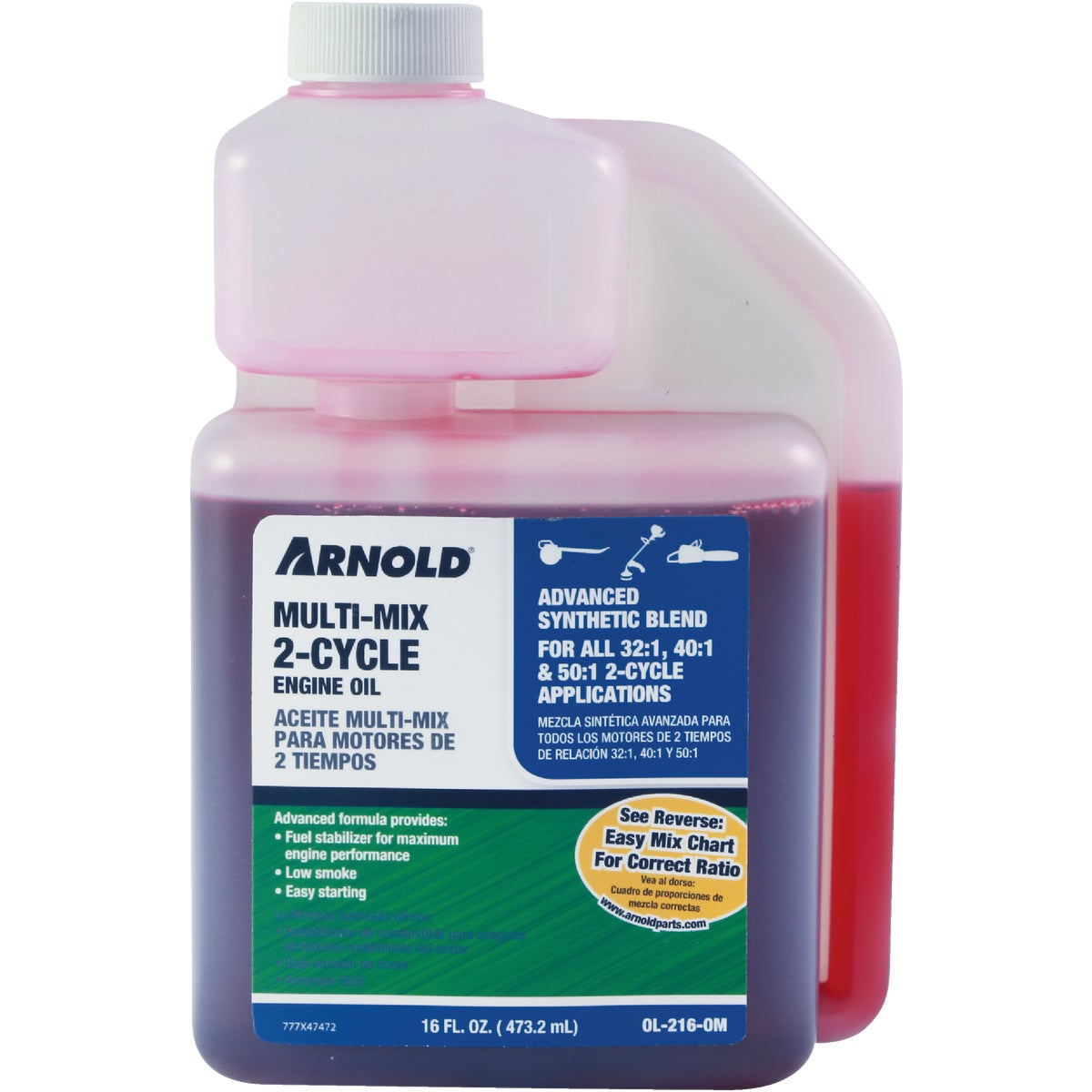16OZ UNIVRSL 2-CYCLE OIL - OL-216-OM by Arnold Corp