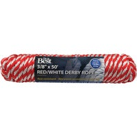 Do it Best Imports 3/8X50' RED/W DERBY ROPE 737240