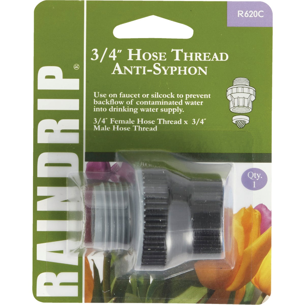 3/4HOSE/HOSE ANTI-SIPHON - R620CT by Raindrip Inc