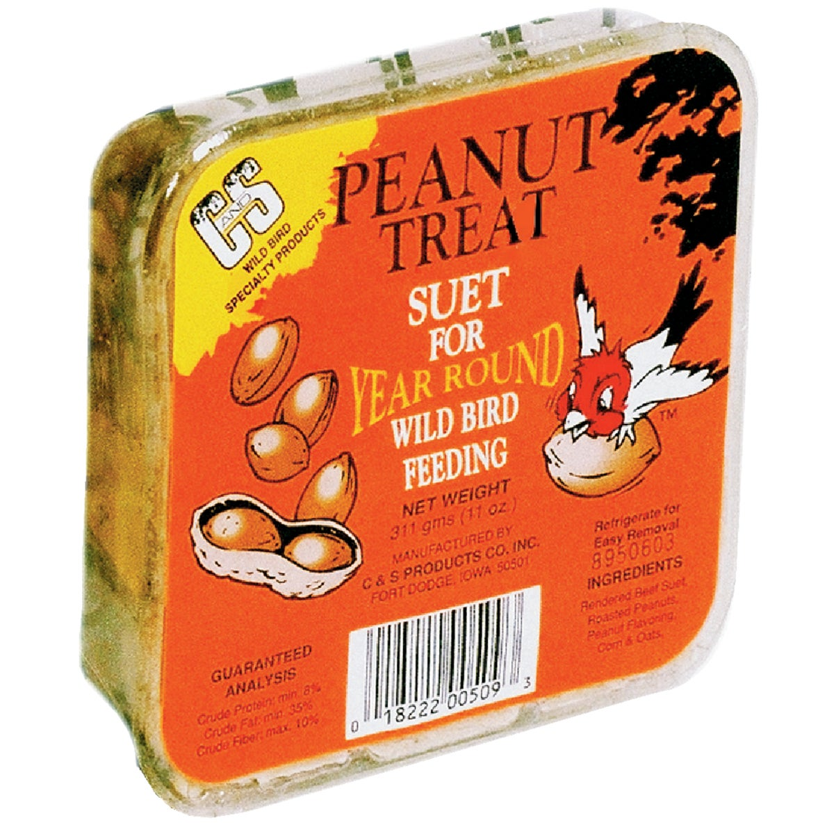PEANUT TREAT SUET - 12509 by C & S Products Inc