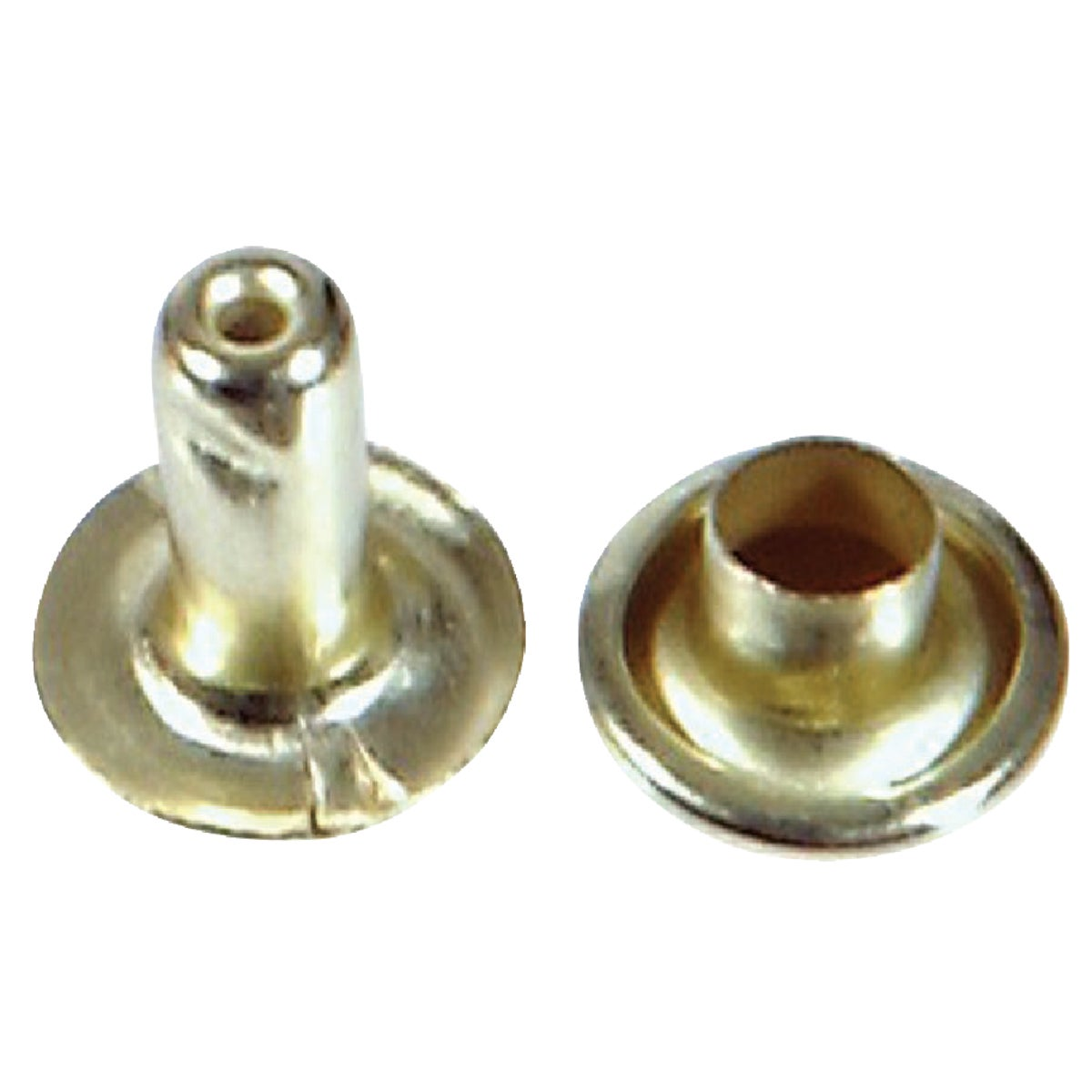 LRG BRASS PLATED RIVET - 8004 by Hillman Fastener