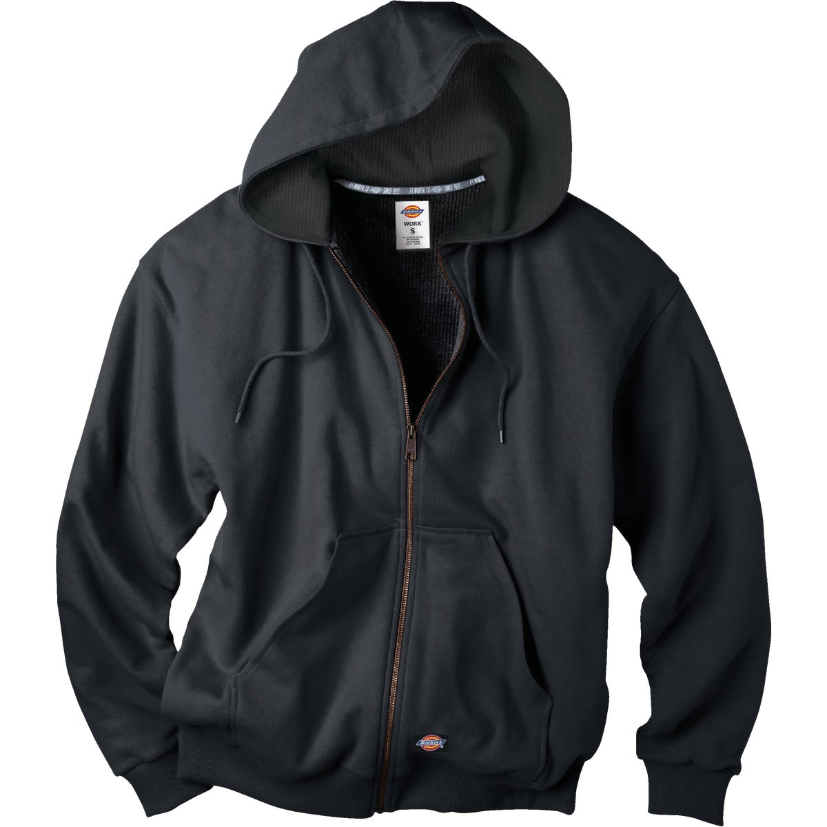 MED BLK HOOD FLC JACKET - TW382BK-M by Dickies