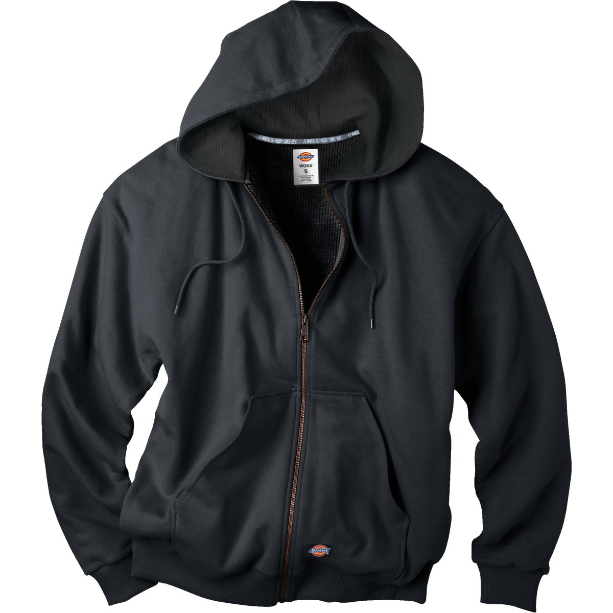 2X BLK HOOD FLC JACKET - TW382BK-2X by Dickies