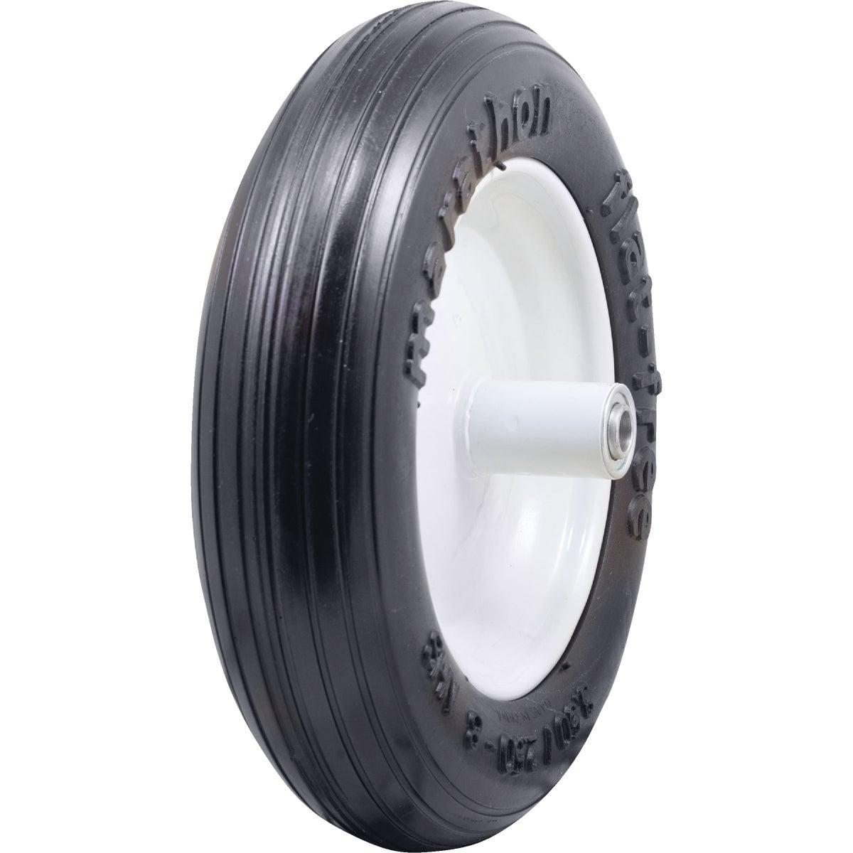 Marathon Flat Free Wheelbarrow Wheel, 3