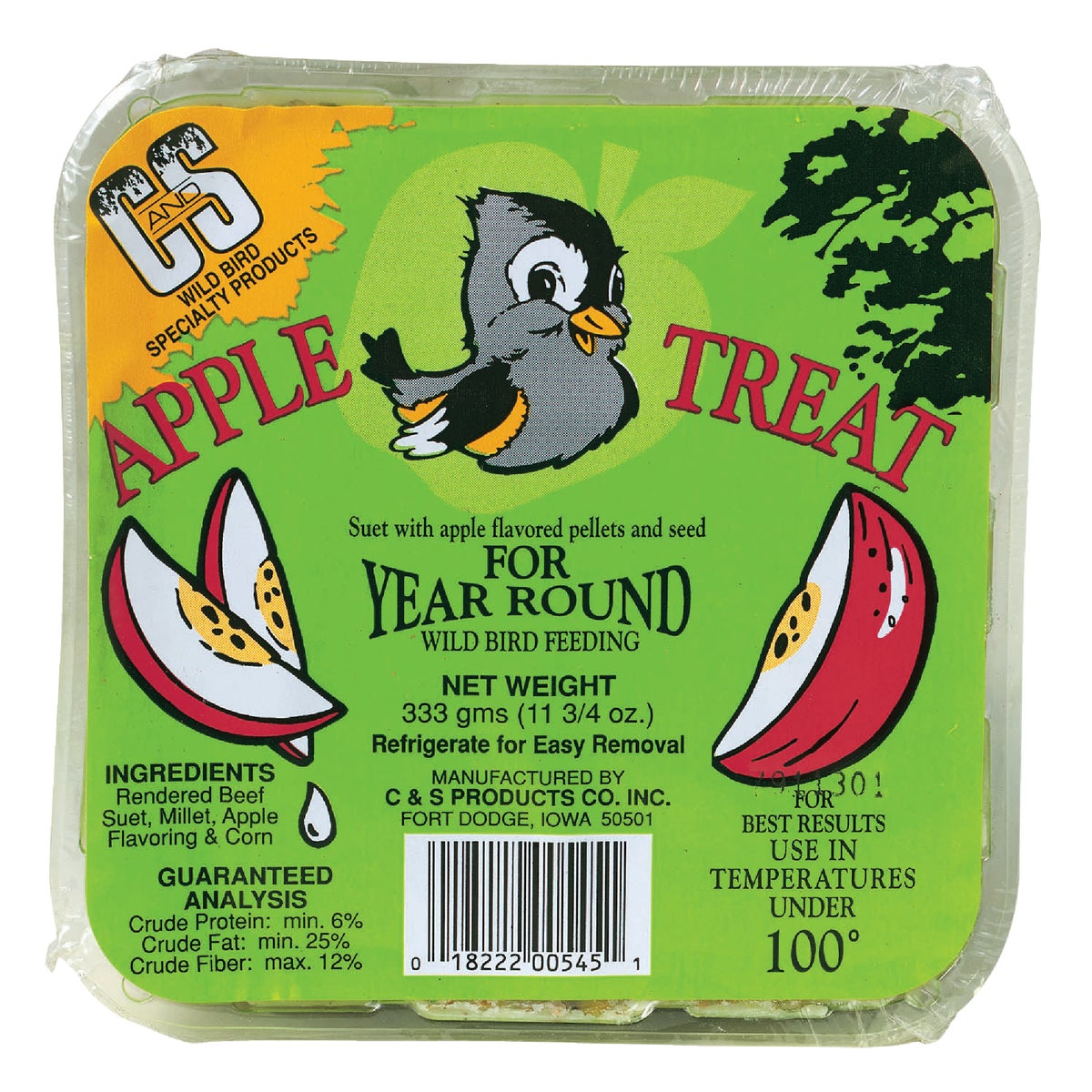 APPLE TREAT SUET - 12545 by C & S Products Inc