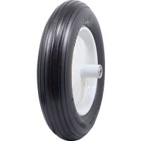 Marathon Flat Free Wheelbarrow Wheel, 1