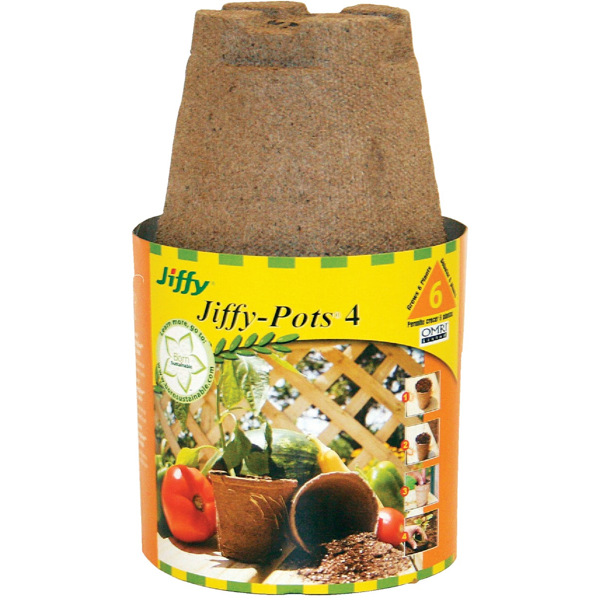 "6PK 4"" ROUND PEAT POTS - FR407 by Plantation Products"