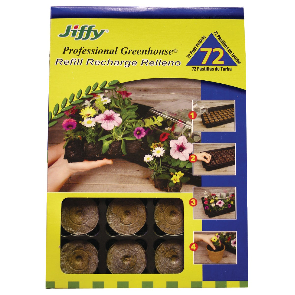 72PK PEAT PELLET REFILL - J3R72 by Plantation Products
