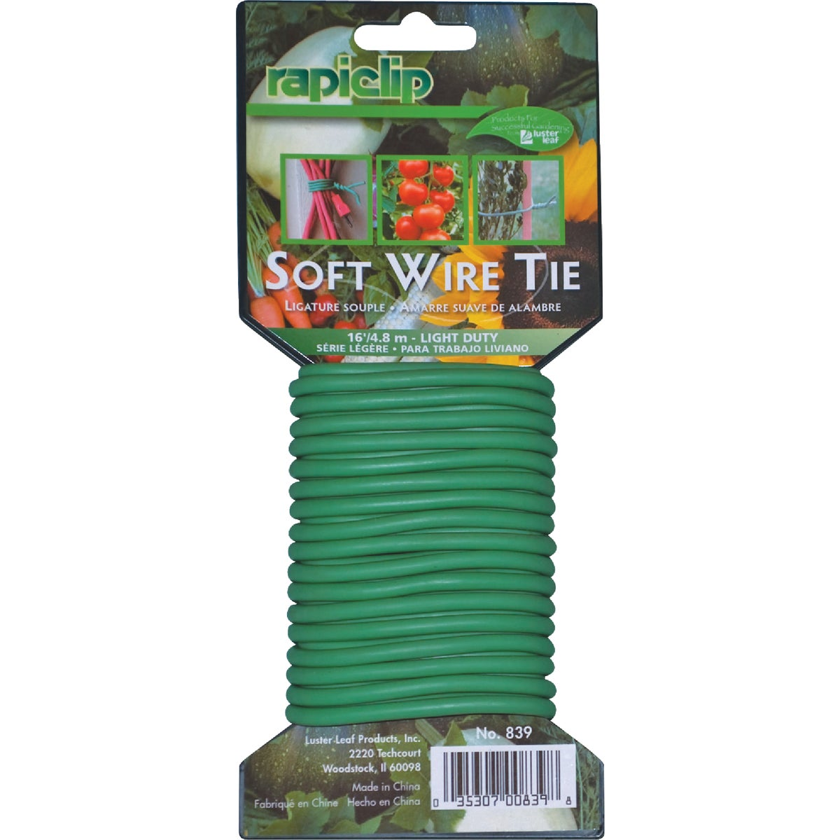 SOFT GARDEN TWIST TIE - 839 by Luster Leaf Prod Inc